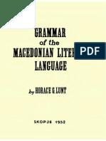Horace Lunt_Macedonian Grammar 1952