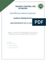"""Mapa de Procesos Farmacia Hospitalaria Hospital Quito # 1"""""""