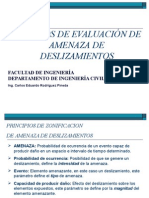 (1) Metodos de Evaluación de Amenaza de Deslizamientos