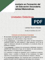Presentación Unidades Didacticas 2015