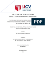 PROPIEDADES PSICOMETRICAS DEL CUESTIONARIO DE AGRESIVIDAD PREMEDITADA E IMPULSIVA EN ADOLESCENTES  DE SECUNDARIA DE MOCHE