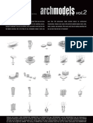 Archmodels Vol 02 PDF | Trademark | Areas Of Computer Science