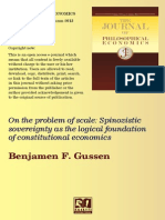 n the Problem of Scale- Spinozistic Sovereignty as the Logical Foundation of Constitutional Economics