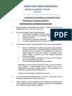 Indicaciones Entrega de Diploma UJCM