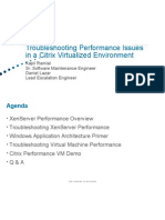 Troubleshooting Performance Issues in a Virtualized Environment