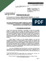 Proyecto de Ley que establece como conducta antidemocrática y prohibida la entrega u ofrecimiento de regalos o dádivas en la actividad política