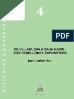 4. de Villanueva a Zaha Hadid, Dos Pabellones Expositivos
