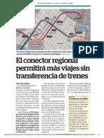 El Conector Regional permitirá más viajes sin transferencia de trenes