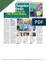 En Los Ángeles celebran el desafuero de Pérez Molina
