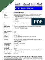 Fax TM Barrier Mortar