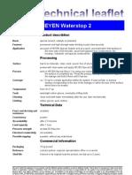 Fax TM Waterstop 2