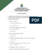 1ª Lista de Exercícios -Calculo I