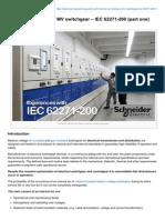 Internal Arc Testing of MV Switchgbbear IEC 62271-200 Part One