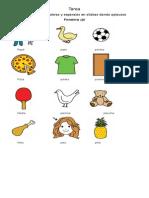 Segmentación silábica palabras fonema p