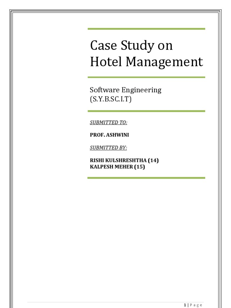 Hotel management case study grocery store software ccuart Images