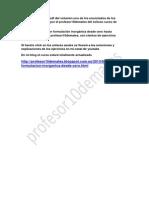 Curso de Formulación y Nomenclatura Inorgánica VOL 1 Libro Vídeo