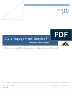 Civic Engagement Decline