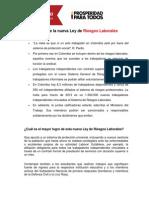 El ABC de La Ley 1562 Del 2012 de Riesgos Laborales