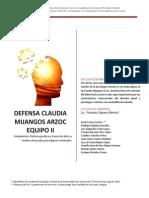 Analisis Psicologico de Claudia Zarc