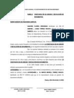 Solicito Devolucion de Documentos