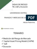 4.Medidas Riesgo Capm, Var y Durac