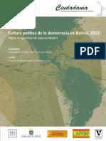 Cultura Politica de La Democracia en Bolivia 2012 Vanderbilt