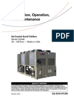 Chiller CGA MInstallation, Operation, Air-Cooled Scroll Chillers 20-130 Ton