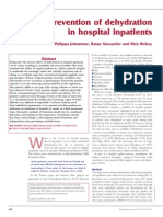 Prevention of Dehydration in hospital patients