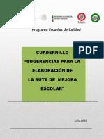 SUGERENCIAS PARA LA ELABORACIÓN DE LA RUTA DE MEJORA.pdf