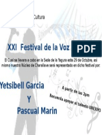 Anuncio de Festival