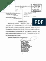 Jackson v. D.C. Board of Elections and Ethics, Civ. No. 2010 CA 000740, Notice of Appeal, (D.C. Super. Ct., Feb. 22, 2010)