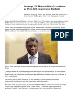Congo's Dr Denis Mukwege, EU Human Rights Prizewinner, 'Worried' For Europe Over Anti-Immigration Rhetoric
