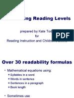 Readability and Children's Books