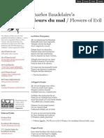 Baudelaire - La Prière d'Un Païen