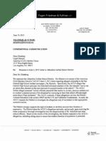 Result of AUSD's Investigation