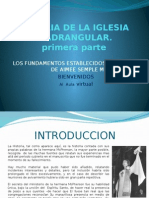 Historia de La Iglesia Cuadrangular 1