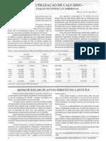 Baixa Utilização de Calcário - Preocupação Econômica e Ambiental