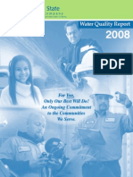 2008 Water Quality for Claremont Tap or Fountain Water Samples