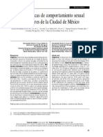 Caracteristicas de comportamiento sexual en hombres de la ciudad de México.