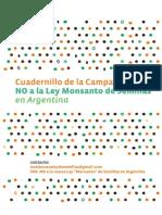 Cuadernillo Campaña No a La Ley Monsanto de Semillas en Argentina