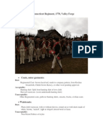 (Living History) 4th Connecticut Regiment, 1778, Valley Forge Guidelines