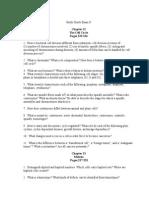 Bio test study guide