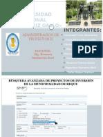 Analisis General de Proyectos Municipalidad Distrital de Reque