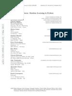 Scikit-learn Machine Learning in Python - Pedregosa Et Al