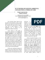 Ensayo sobre beneficios de la aplicacion de la norma ISO 14001