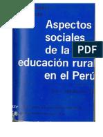 Aspectos Sociales de la Educacion Rural en el Perú