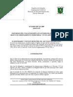 Acuerdo No. 007 de Mayo 25 de 2009 Por Medio Del Cual Se Modifica El Acuerdo 011 Del 2002 Plan Basico de Ordenamiento Territorial