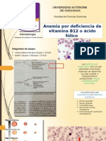 Anemia Por Deficiencia de Folatos o Vitamina B12