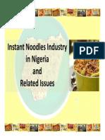 Nigeria Noodle Industry