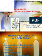 What Makes a Good Academic Essay